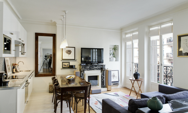 Pole Studio In Living Room